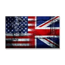 UK USA FLAG - Car Magnet 20 x 12