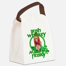 Irish Whiskey girl Canvas Lunch Bag