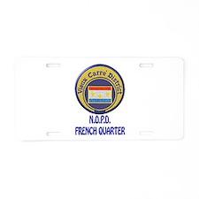 New Orleans Police French Quarter Aluminum License