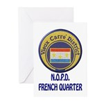 New Orleans Police French Quarter Greeting Cards (