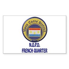 New Orleans Police French Quarter Decal