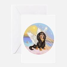 R-Clouds-BT Cav (R) Angel Greeting Card