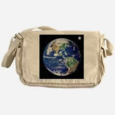 Earth from space, satellite image - Messenger Bag