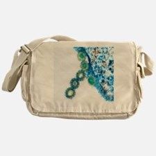 H1N1 swine flu virus, TEM - Messenger Bag