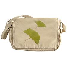 Maidenhair leaves (Ginkgo biloba) - Messenger Bag
