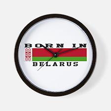 Born In Belarus Wall Clock