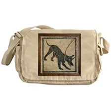 Roman guard dog mosaic - Messenger Bag