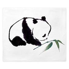 Chinese Panda art King Duvet