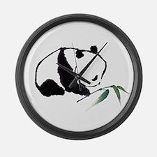 Chinese Panda art Large Wall Clock