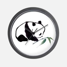 Chinese Panda art Wall Clock
