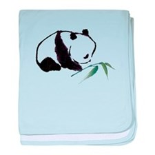 Chinese Panda art baby blanket
