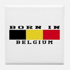 Born In Belgium Tile Coaster