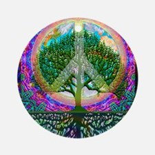 Tree of Life World Peace Ornament (Round)