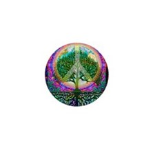 Tree of Life World Peace Mini Button (10 pack)