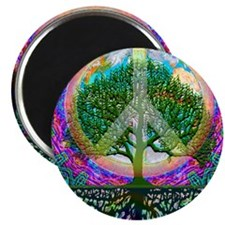 """Tree of Life World Peace 2.25"""" Magnet (10 pack)"""