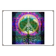Tree of Life World Peace Banner