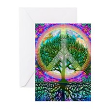 Tree of Life World Peace Greeting Cards (Pk of 20)