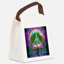 Tree of Life World Peace Canvas Lunch Bag
