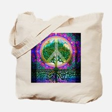 Tree of Life World Peace Tote Bag