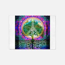 Tree of Life World Peace 5'x7'Area Rug