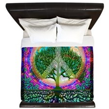 Tree of Life World Peace King Duvet