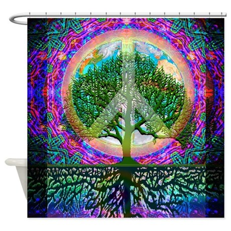 Tree of Life World Peace Shower Curtain