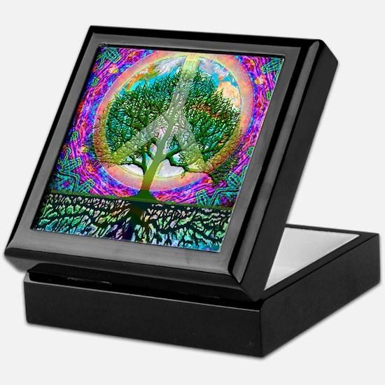 Tree of Life World Peace Keepsake Box