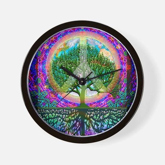 Tree of Life World Peace Wall Clock