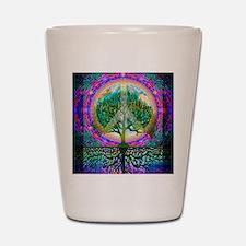 Tree of Life World Peace Shot Glass