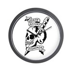 Death Before Dishonor Wall Clock