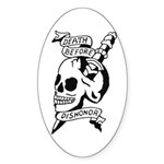 Death Before Dishonor Oval Sticker