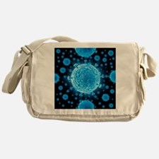 HIV virus particles, artwork - Messenger Bag