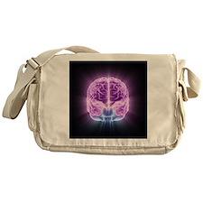Human brain,computer artwork - Messenger Bag