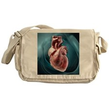 Human heart, artwork - Messenger Bag
