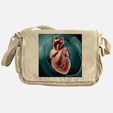 Human heart, artwork - Messenger Bag