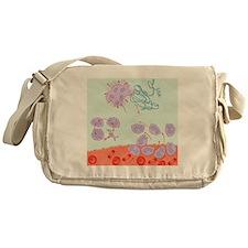 Human immune response, artwork - Messenger Bag