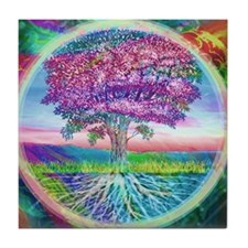 Tree of Life Blessings Tile Coaster