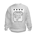 WHITE Self-Existing WIZARD Kids Sweatshirt