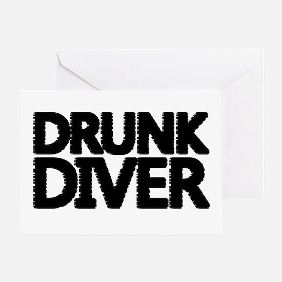 'Drunk Diver' Greeting Card