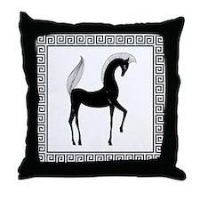 greek horse pillow.jpg Throw Pillow