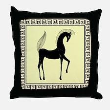 horse pillow yellow black. jpg Throw Pillow