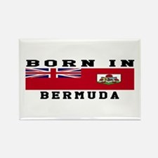 Born In Bermuda Rectangle Magnet