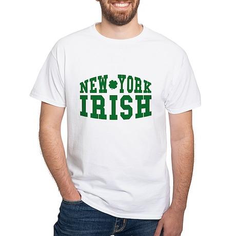 New York Irish White T-Shirt