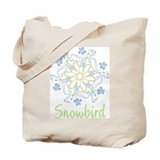 Snowflake Snowbird Tote Bag