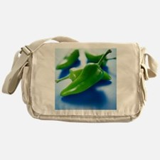 Green chilli peppers - Messenger Bag