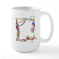 Colorful Abstract Doodle Art Border Design Mug