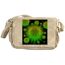 HIV particles - Messenger Bag