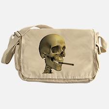 Smoking skeleton - Messenger Bag