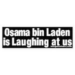 Osama bin Laden Laughs Bumper Sticker