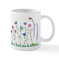 Spring Tulips Flowers Lady Bug Doodle Art Design M